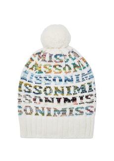 Missoni Logo knit wool beanie hat