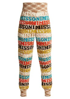 Missoni Logo-knit wool-blend leggings
