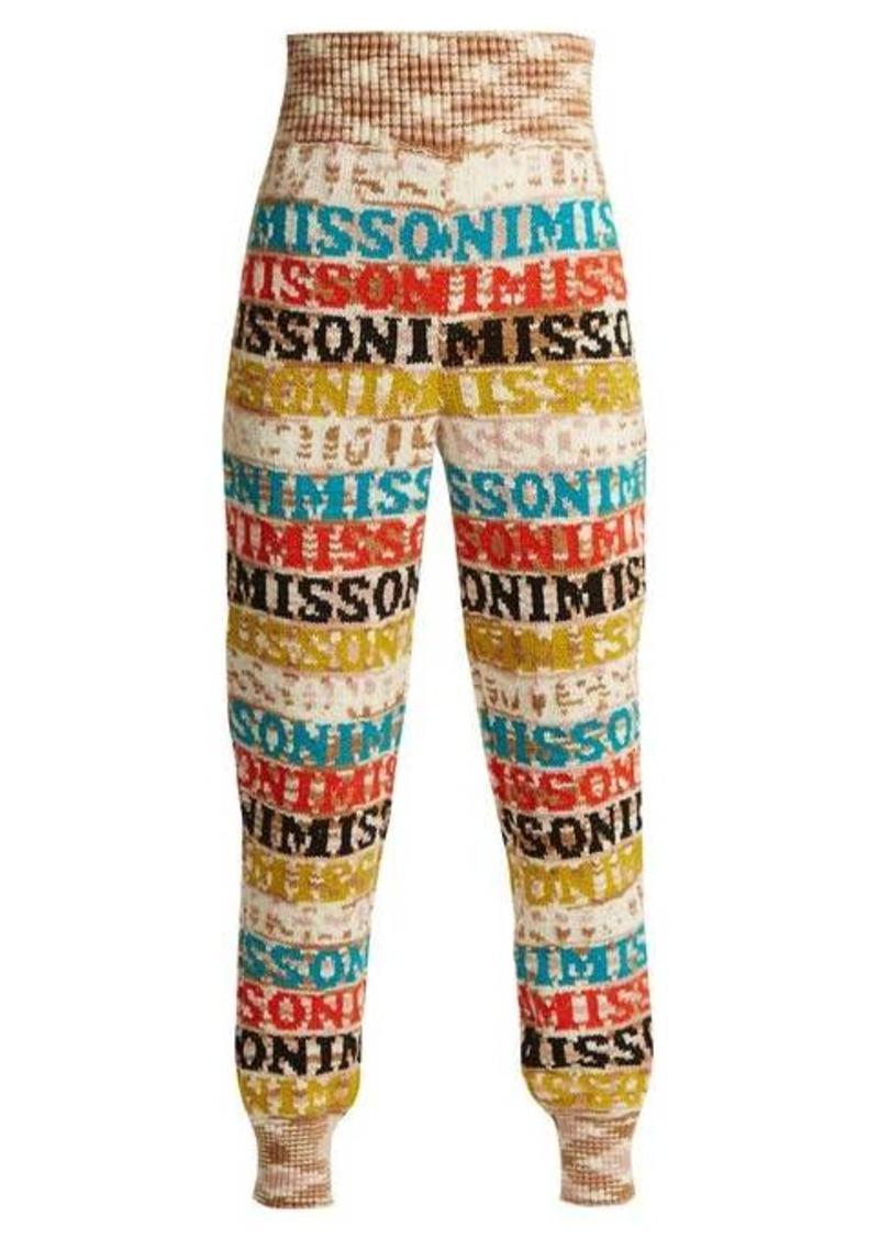 Missoni Logo-knit wool-blend leggings