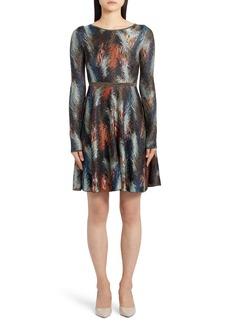 Missoni Long Sleeve Jacquard Sweater Dress