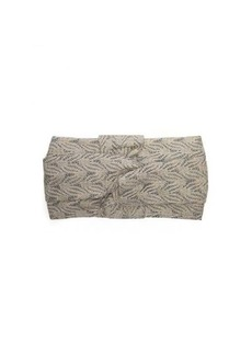 Missoni Lurex knotted crochet-overlay headband