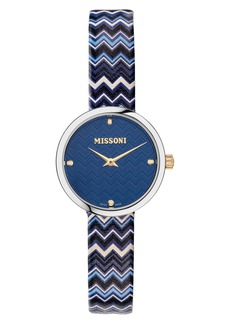 Missoni M1 Joyful Chevron Leather Strap Watch, 29mm (Nordstrom Exclusive)