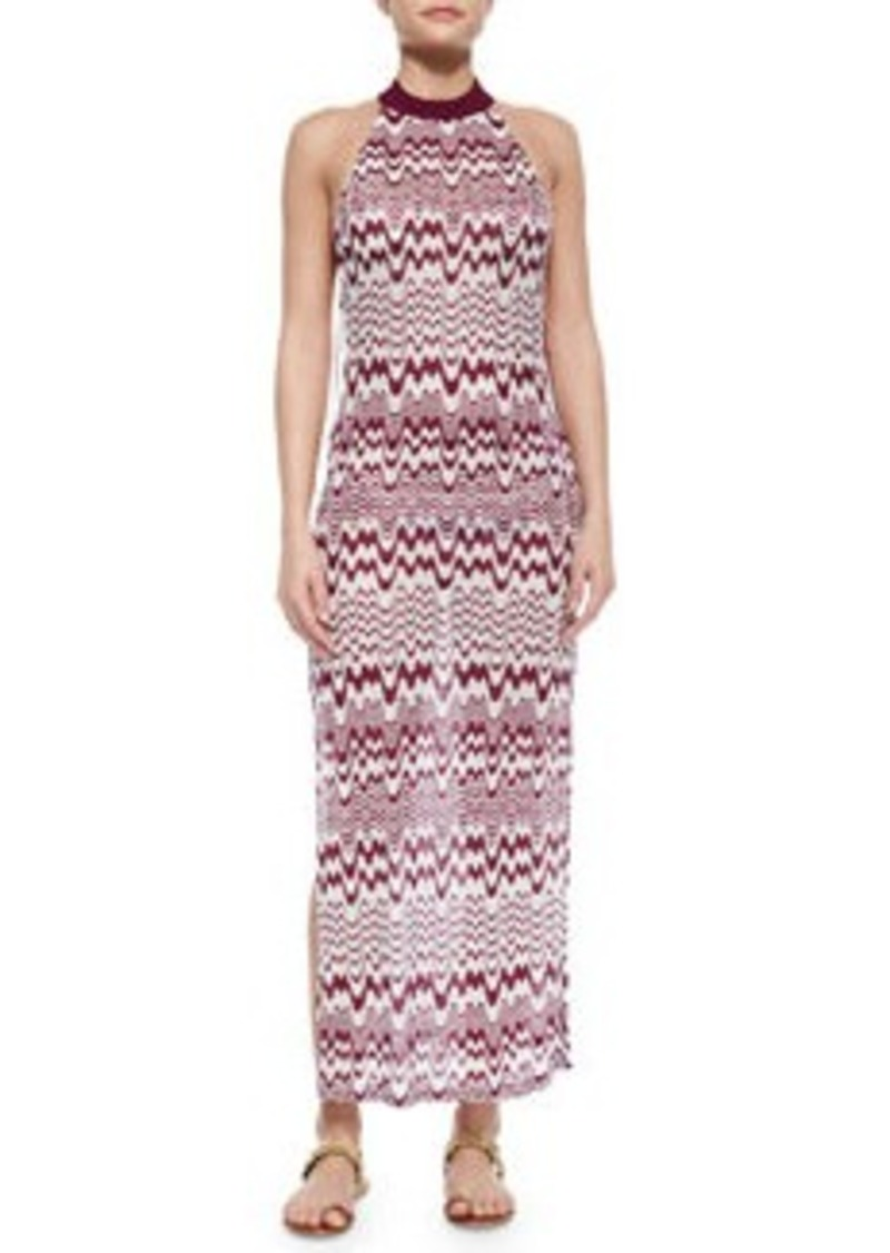Missoni Mare Bicolor High-Neck Maxi Dress