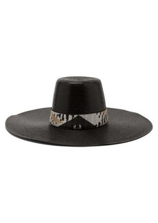 Missoni Mare Banded wide-brim hat