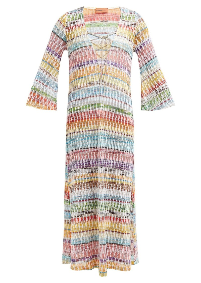 5a5a5126ba Missoni Missoni Mare Crochet-knit lace-up cover up   Swimwear