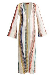 Missoni Mare Crochet zigzag knit cardigan