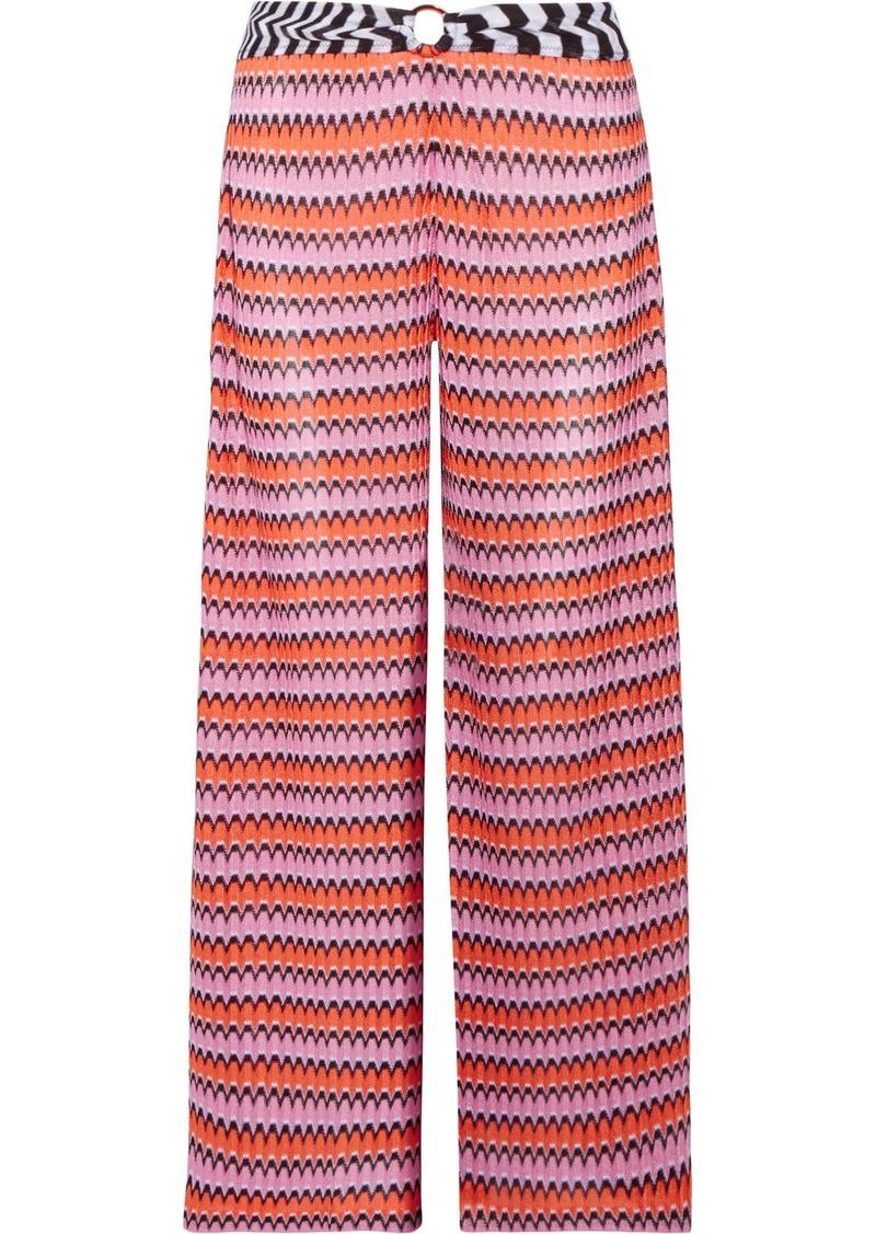 df5063bff63255 Missoni Mare cropped crochet-knit wide-leg pants | Swimwear