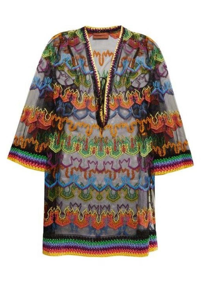 Missoni Mare Embroidered multicoloured kaftan