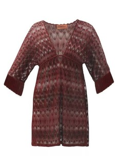 Missoni Mare Fringed lurex-knitted cover up