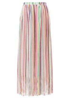 Missoni Mare Fringed striped maxi skirt