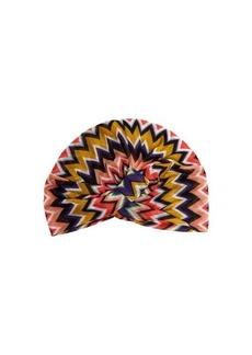 Missoni Mare Front-twist zigzag crochet-knit turban hat