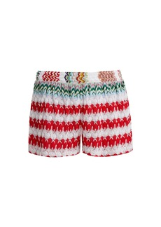 Missoni Mare High-waist knit shorts