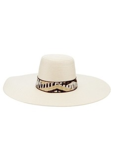 Missoni Mare Jacquard-trim woven hat