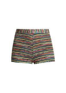 Missoni Mare Striped-knit hotpant shorts