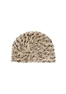 Missoni Mare Knotted metallic-mesh turban hat