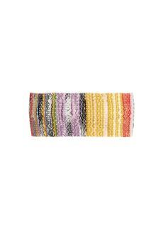 Missoni Mare Metallic crochet-knit headband