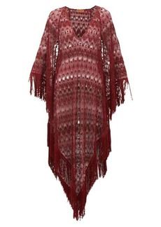 Missoni Mare Metallic crochet-knit kaftan