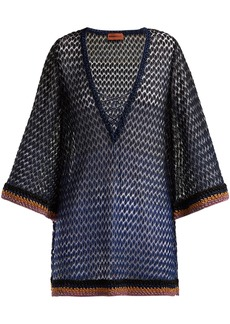 Missoni Mare Metallic lamé lace-up kaftan