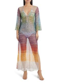 Missoni Mare Metallic Stripe Cover-Up Dress