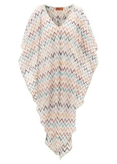 Missoni Mare Metallic zigzag-knitted kaftan
