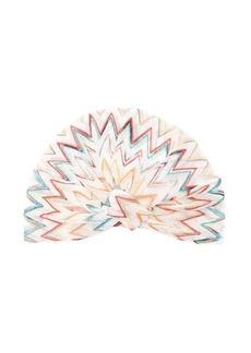 Missoni Mare Metallic zig-zag striped turban headband