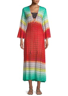 Missoni Multicolor Lace-Up Long Caftan