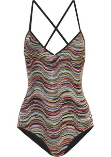 Missoni Mare Metallic Crochet-knit Swimsuit
