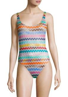 Missoni One-Piece Chevron Swimsuit