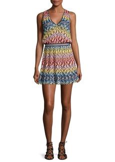 Missoni Mare Pizzo Onda Multicolor V-Neck Coverup Dress
