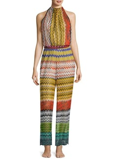 Missoni Rete Lame Zigzag Jumpsuit