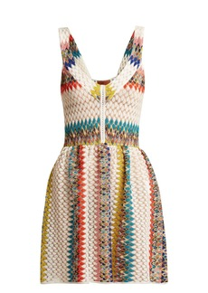 Missoni Mare Riato zig-zag knit mini dress