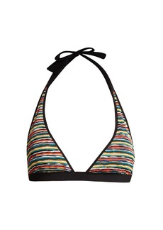 Missoni Mare Riga striped knit bikini top