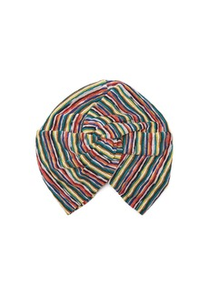 Missoni Mare Riga striped-knit turban hat