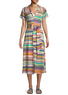 Missoni Mare Short-Sleeve Button-Down Coverup Dress
