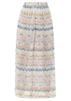 Missoni Mare Side-slit zigzag-jacquard wide-leg trousers
