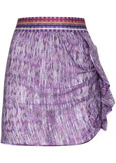 Missoni metallic ruffle detail mini skirt