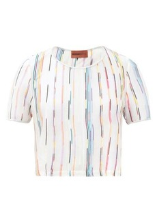 Missoni Mare Striped cropped-hem T-shirt