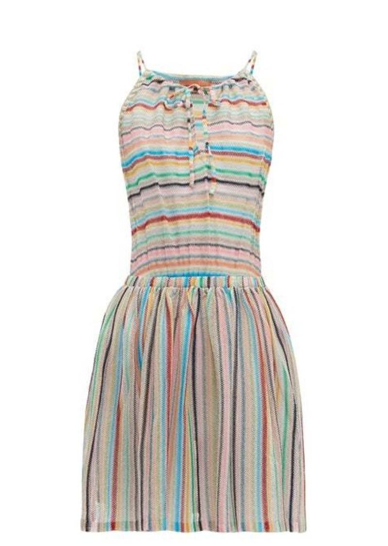 Missoni Mare Striped halterneck mini dress