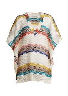Missoni Mare V-neck diamond-knit kaftan