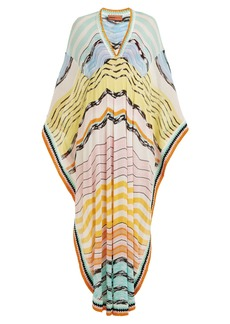 Missoni Mare Wave-striped knitted kaftan