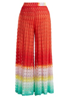 Missoni Mare Wide-leg high-rise knit trousers
