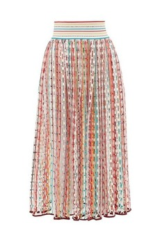 Missoni Mare Wide-waistband cut-out braided skirt
