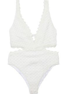 Missoni Mare Woman Mare Cutout Metallic Crochet-knit Swimsuit White