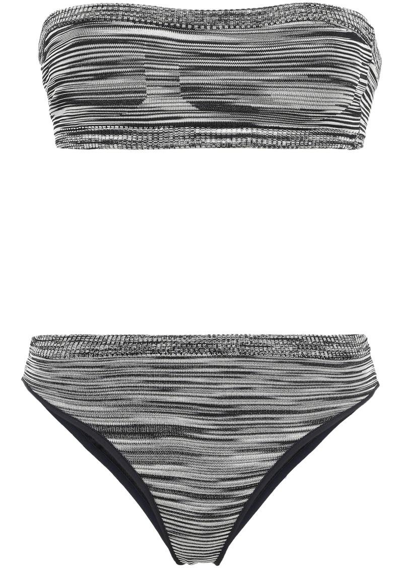 Missoni Mare Woman Mare Crochet-knit Bandeau Bikini Black