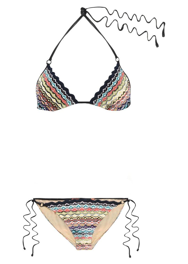 Missoni Mare Woman Mare Crochet-knit Triangle Bikini Beige