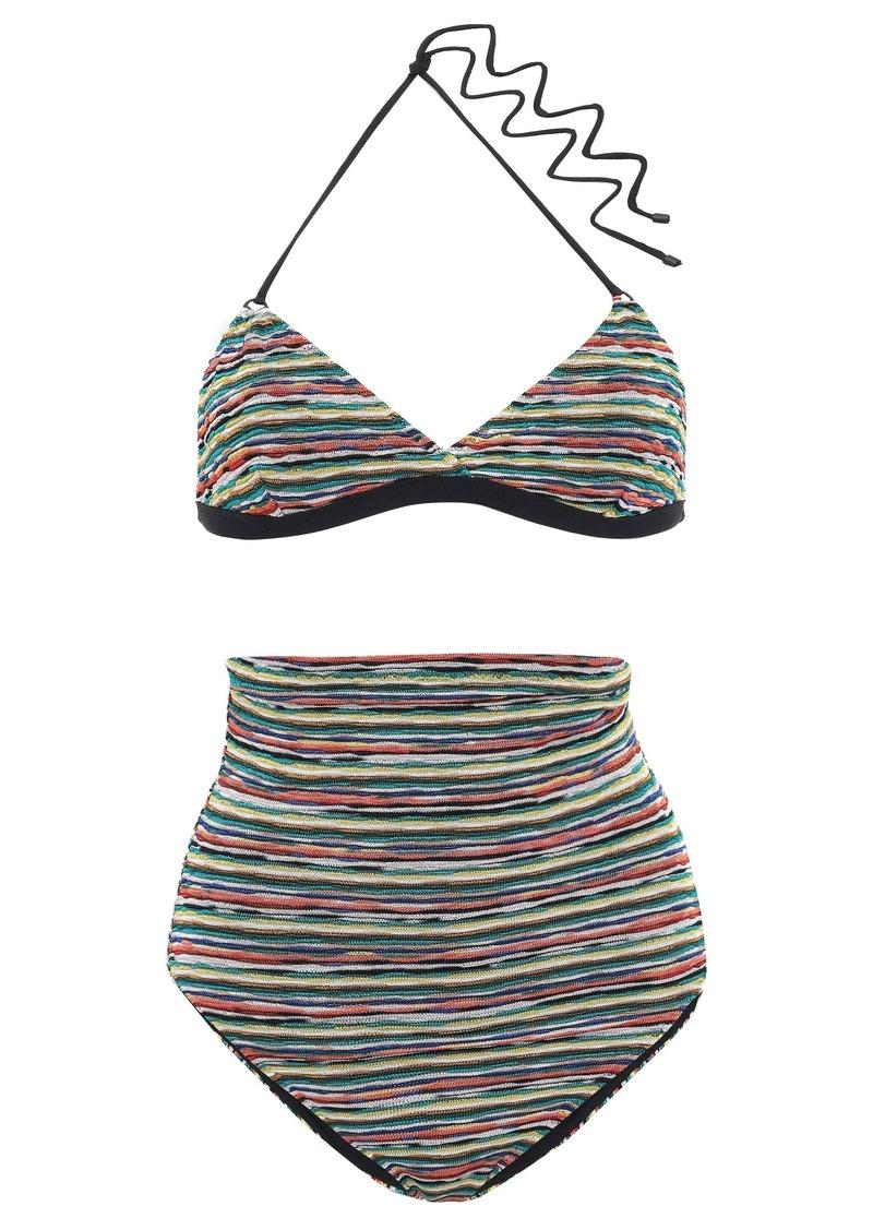 Missoni Mare Woman Mare Crochet-knit Triangle Bikini Black