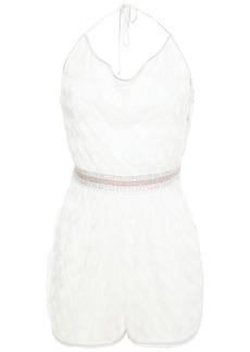 Missoni Mare Woman Mare Draped Crochet-knit Halterneck Playsuit White