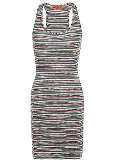 Missoni Mare Woman Mare Metallic Crochet-knit Mini Dress Petrol