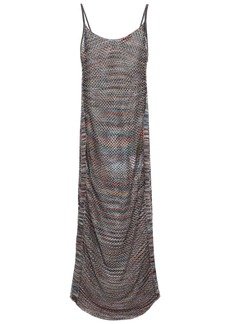 Missoni Mare Woman Mare Metallic Open-knit Midi Dress Grape