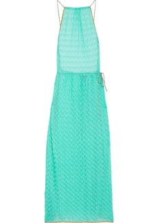 Missoni Mare Woman Mare Crochet-knit Maxi Dress Turquoise